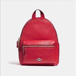 Cherry red coach backpack
